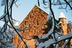 Winter Snow in Shrewsbury, UK Royalty Free Stock Photo