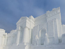 Winter snow and ice sculpture - Castle Stock Photos