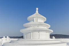 Winter snow and ice sculpture - Temple of Heaven Stock Photo