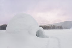 Winter snow igloo Royalty Free Stock Photography