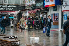 Winter and snow in Istanbul Stock Photo