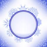Winter Snow Label Stock Photography