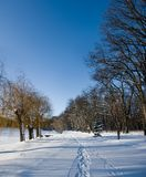 Winter snow landscape Stock Photography