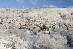 Winter snow landscape Royalty Free Stock Image