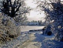 Winter snow landscape. Stock Photo
