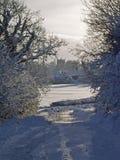 Winter snow landscape. Royalty Free Stock Photos