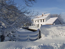 Winter snow landscape. Royalty Free Stock Photo
