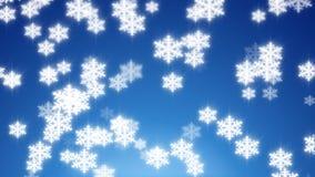 Winter snow loop stock video footage