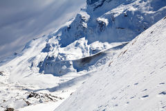 Winter snow mountain landscape Royalty Free Stock Photography