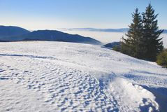 Winter snow mountain landscape Royalty Free Stock Photo