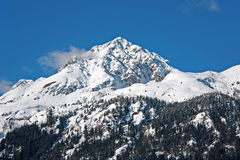 Winter Snow Mountain Landscape Royalty Free Stock Images