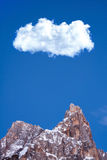 Winter Snow Mountain Peak Big Cloud stock photography