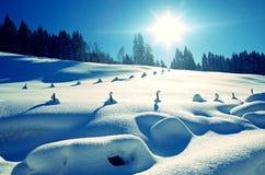 Winter snow mountains Royalty Free Stock Photos