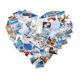 Winter and snow  photos collage in the shape of heart Royalty Free Stock Photos