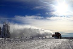 Winter :  snow plow truck Stock Photo