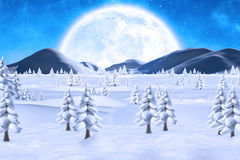 Winter snow scene Stock Photography