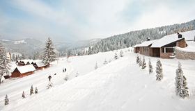 Winter snow season outdoor landscape Stock Photography