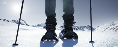 Winter snow shoes stock photography