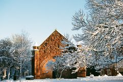 Winter Snow in Shrewsbury, UK Royalty Free Stock Photos