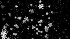Winter Snow and Snow Flakes 2 Loopable Background stock footage