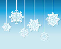 Winter snow or snowflake Stock Photo