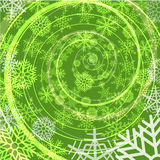 Winter snow storm spiral background Royalty Free Stock Photo