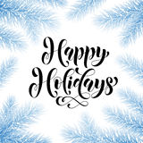 Winter snow tee Happy Holidays greeting card, poster Stock Photo
