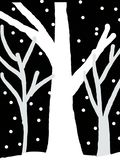 Image SNOW TREES night winter royalty free illustration