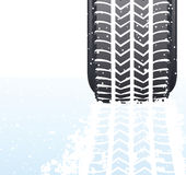 Winter snow tyre Stock Photos