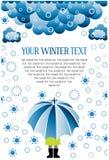 Winter snow umbrella. Vector of winter snow umbrella Stock Photos