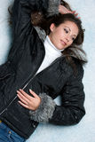 Winter Snow Woman. Beautiful winter woman in snow Stock Images