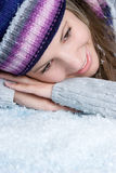 Winter Snow Woman Stock Photography