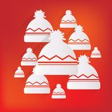Winter snowboard cap icon Royalty Free Stock Image