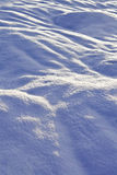Winter snowbound plain Stock Images