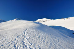 Winter. Snowcapped mountains Stock Photos