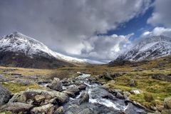 Winter in Snowdonia royalty free stock images