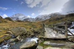 Winter in Snowdonia Stock Image