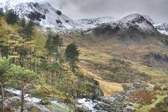 Winter in Snowdonia Stock Photos
