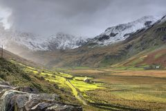Winter in Snowdonia Lizenzfreies Stockfoto
