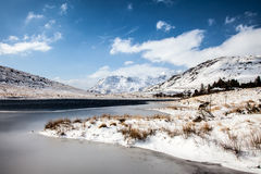 Winter in Snowdonia Stock Image