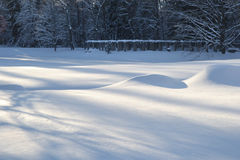 Winter snowdrifts Royalty Free Stock Photos