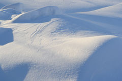 Winter snowdrifts Stock Image