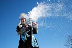Winter snowfall Stock Photo
