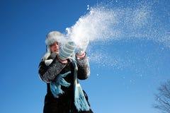 Winter Snowfall Stock Photo