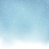 Winter snowfall blue background Stock Image