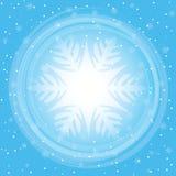 Winter snowfall  illustration. Snowflakes background Stock Photo