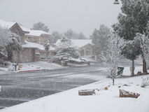 Winter Snowfall, Las Vegas, NV 2010 royalty free stock photography
