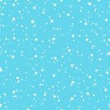 Winter snowfall seamless pattern Royalty Free Stock Image