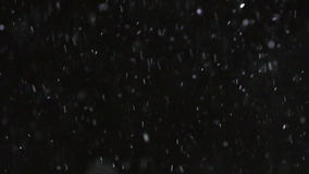 Winter Snowfall Slow Motion stock footage