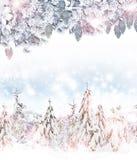 Winter. Snowfall. Royalty Free Stock Image